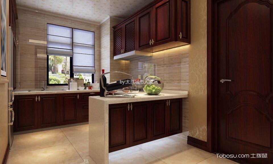 厨房 隔断_智诚御河骏景三居室欧式风格样板间装修设计