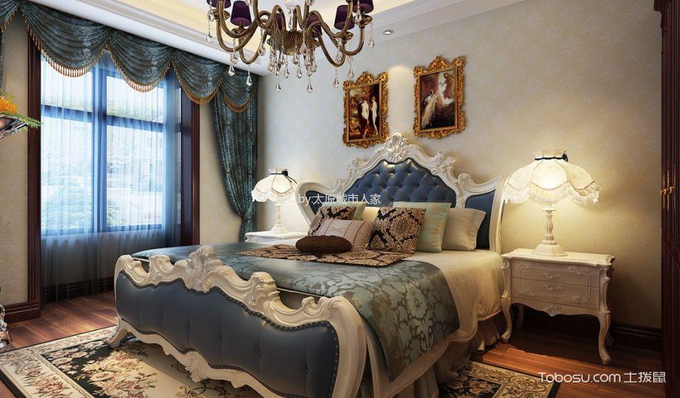 卧室 窗帘_智诚御河骏景三居室欧式风格样板间装修设计