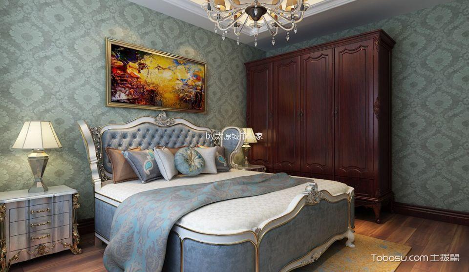 卧室 走廊_智诚御河骏景三居室欧式风格样板间装修设计