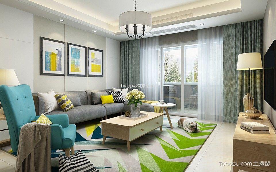 简约风格110平米3房2厅房子装饰效果图