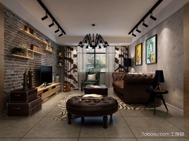 客厅 背景墙_混搭风格120平米三室两厅室内装修效果图