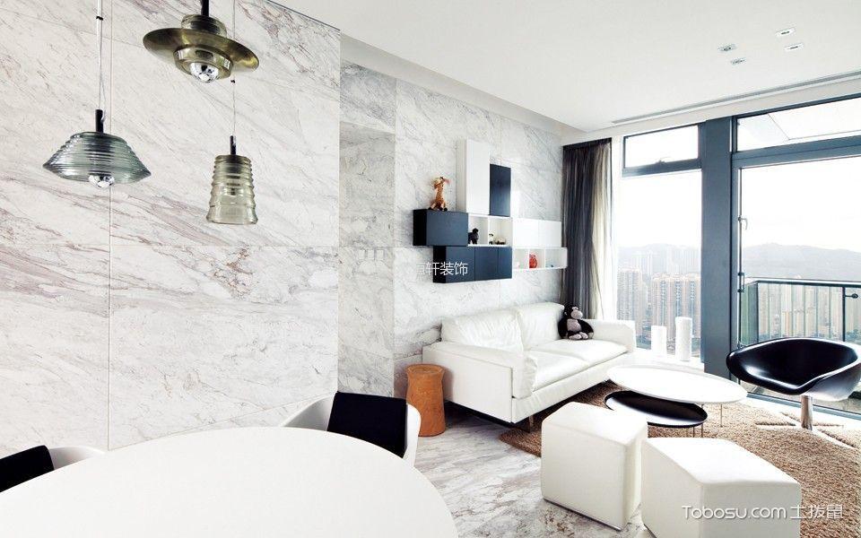 简约风格80平米1房1厅房子装饰效果图