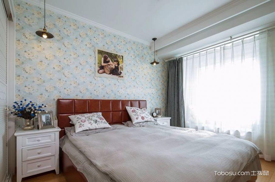 美式风格89平米2房2厅房子装饰效果图