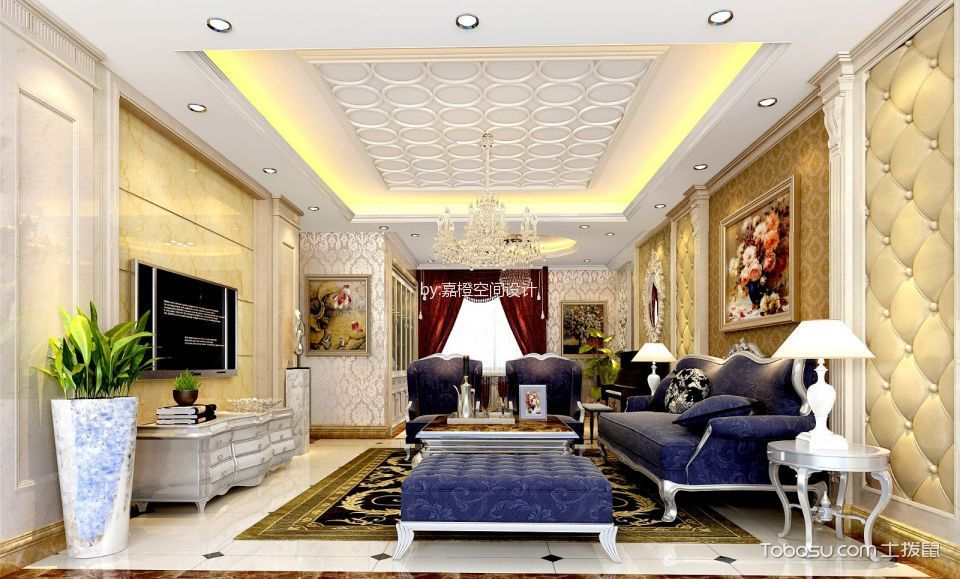 四居室欧式风格装修效果图