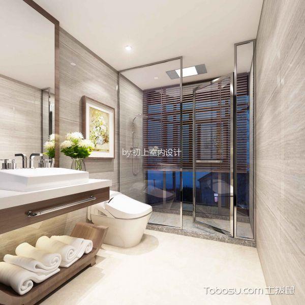 卫生间白色吊顶新中式风格装潢图片