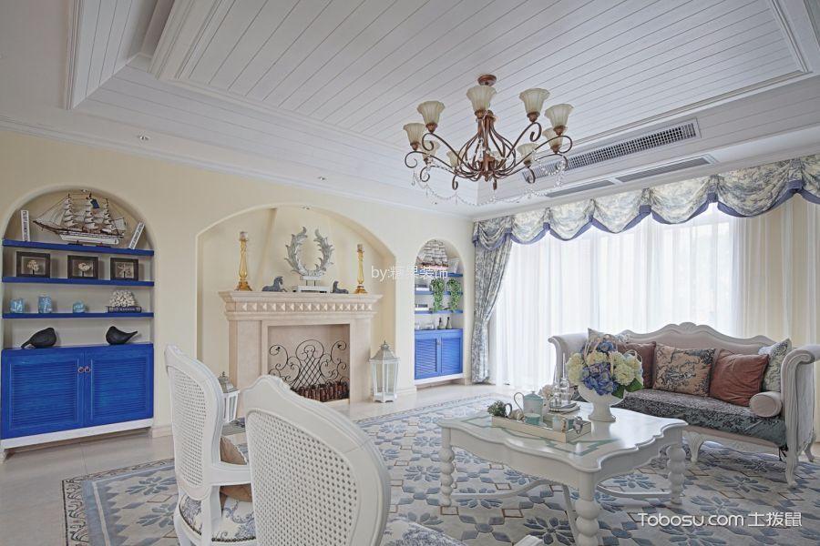 客厅 吊顶_地中海风格130平米大户型新房装修效果图