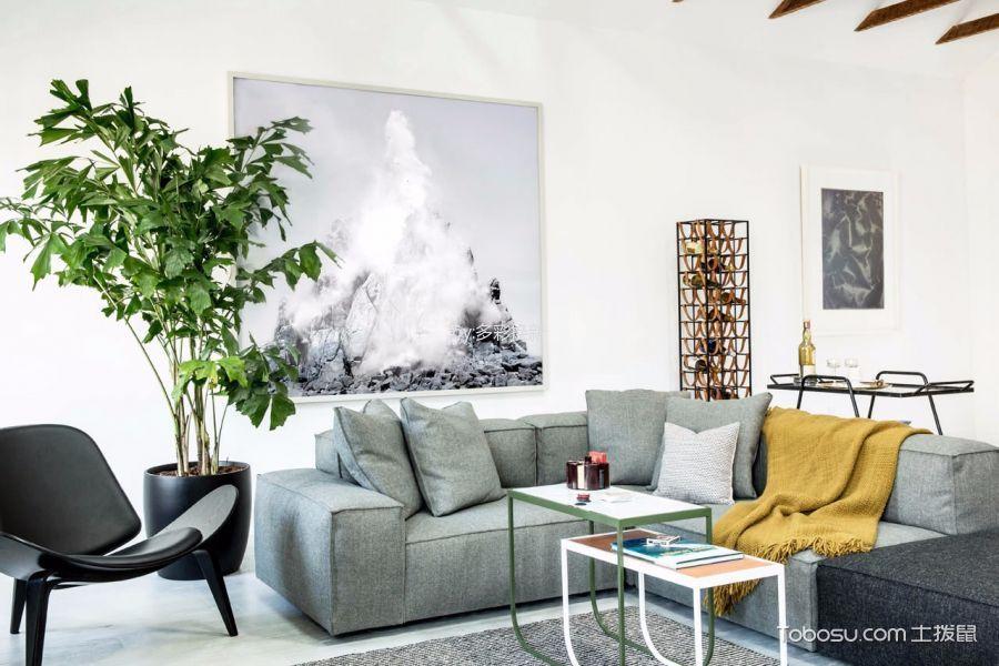 北欧风格80平米1房2厅房子装饰效果图