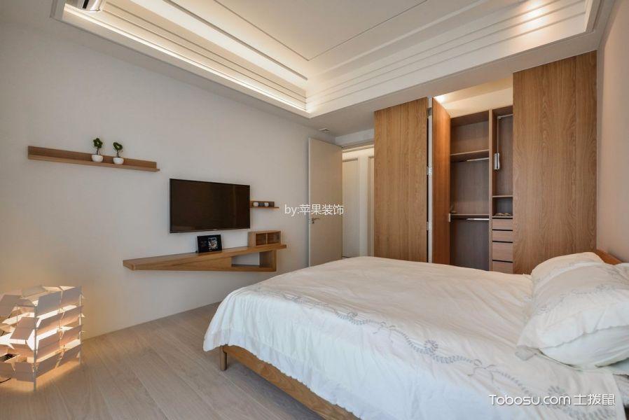 卧室 背景墙_日式风格160平米三居室房子装修效果图