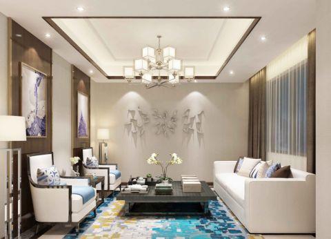 新中式风格300平米别墅房子装饰效果图