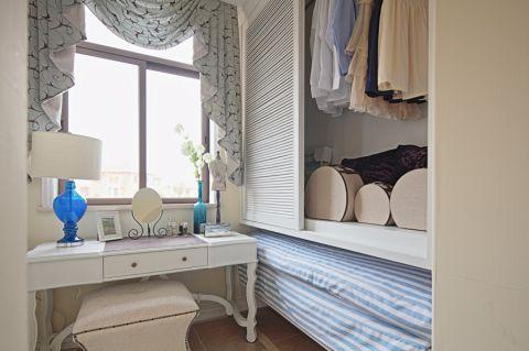 卧室隐形门地中海风格装潢设计图片