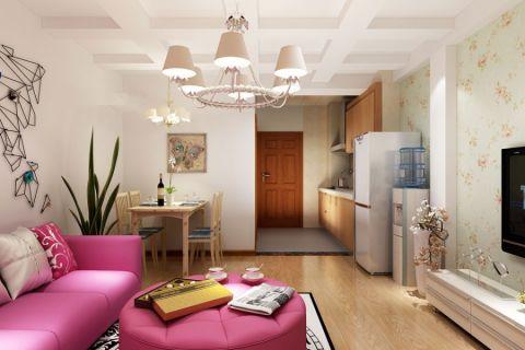 100平现代风格二居室装修效果图