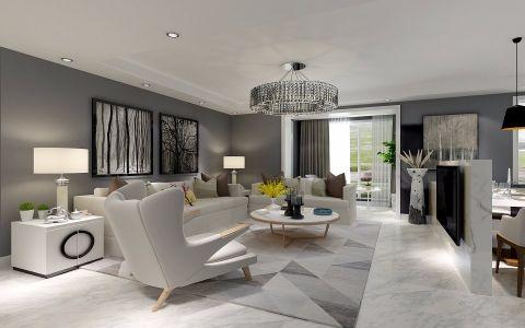 90平米现代简约三居室装修案例