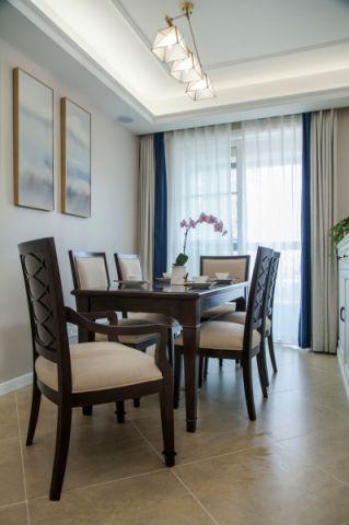 餐厅窗帘美式风格装修效果图