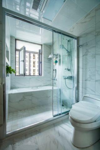卫生间飘窗美式风格装修图片
