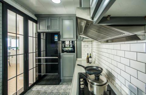厨房推拉门美式风格装修设计图片