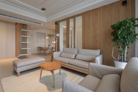 客厅吊顶日式风格装潢设计图片