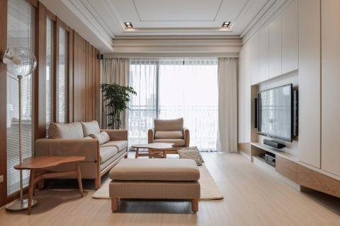 日式风格160平米三居室房子装修效果图