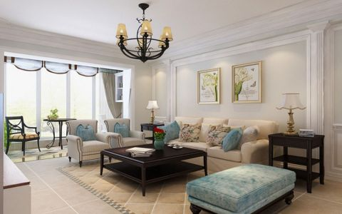 朗诗熙园三居室美式风格装修效果图