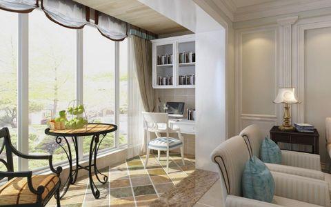 客厅飘窗美式风格装饰图片