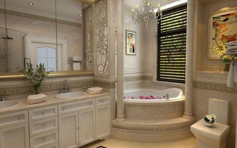 卫生间隔断美式风格装修设计图片