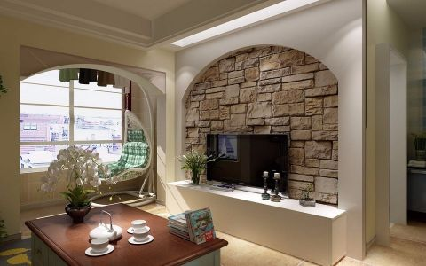 混搭风格80平米小户型室内装修效果图
