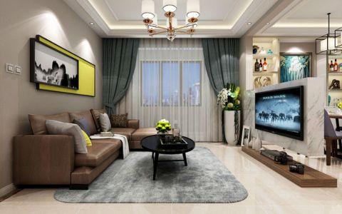 江佑铂庭两居室现代简约装修效果图