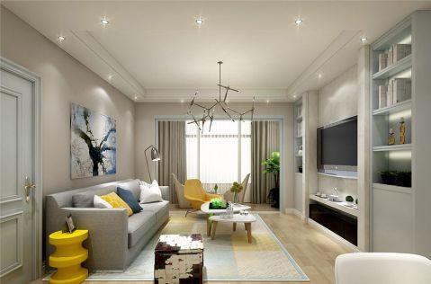 荷塘悦色110平米简约风格三居室装修效果图