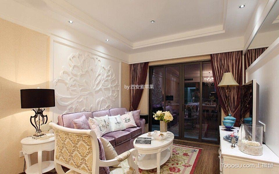 金地翔悦天下两居室简欧风格效果图