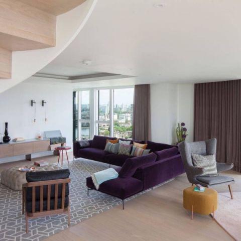 北欧风格300平米别墅室内装修效果图