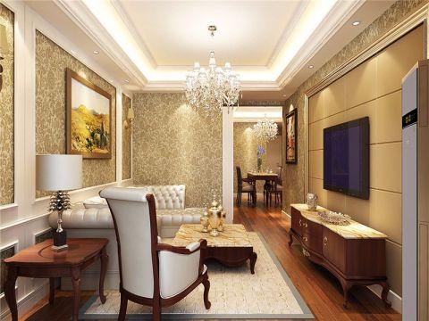 欧式风格三室两厅家装效果图