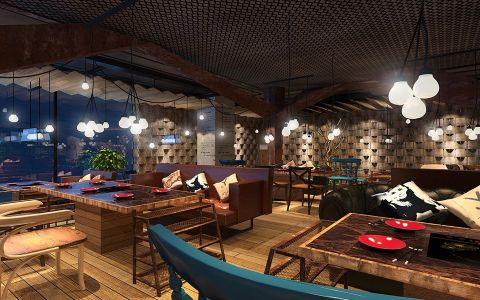现代风格餐厅装饰效果图