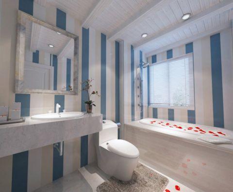 卫生间窗台地中海风格装修效果图