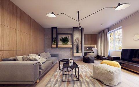 现代简约风格80平米小户型新房装修效果图
