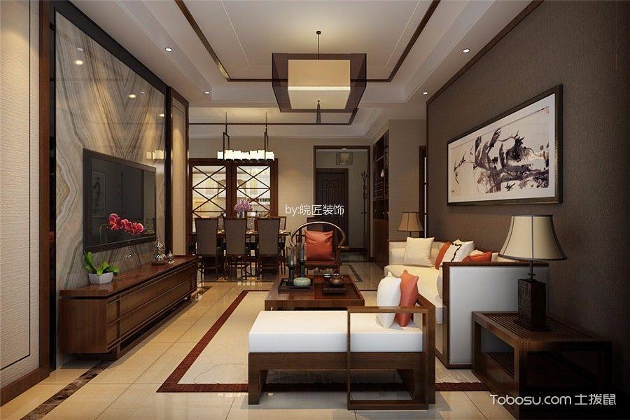 新中式风格138平米3房2厅房子装饰效果图