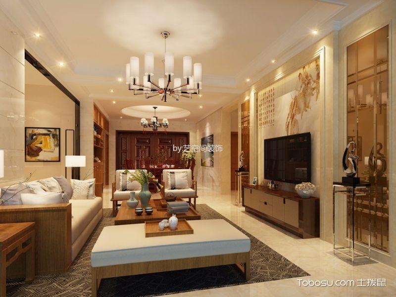 北滘美的翰城120平中式风格家装案例