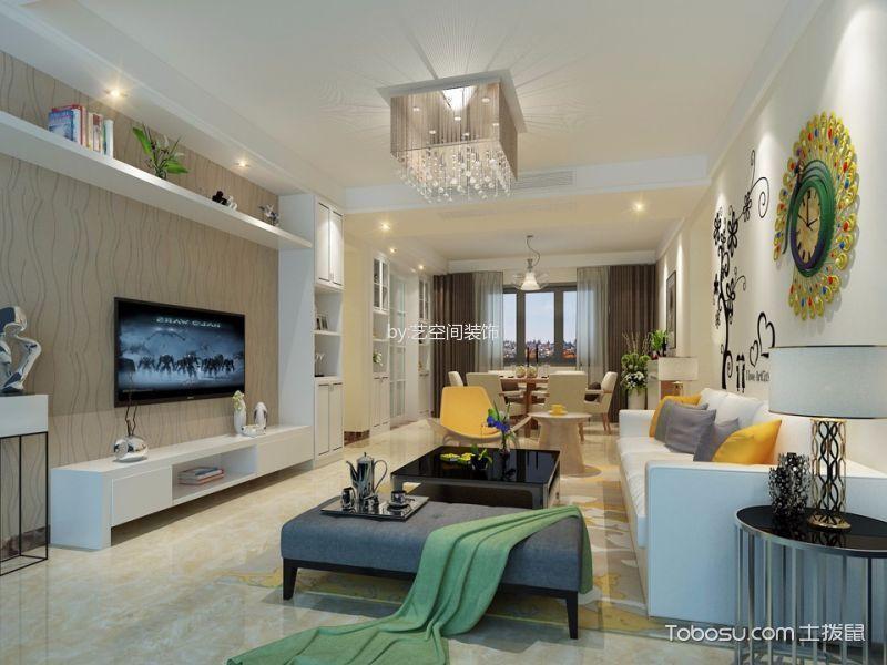 美的翰城嘉园110平现代简约风格四居室装修效果图