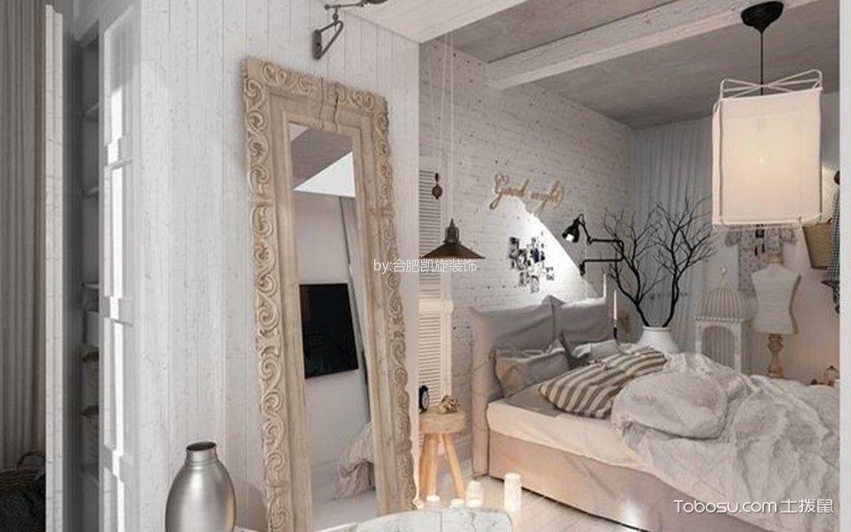卧室背景墙北欧风格装修效果图图片