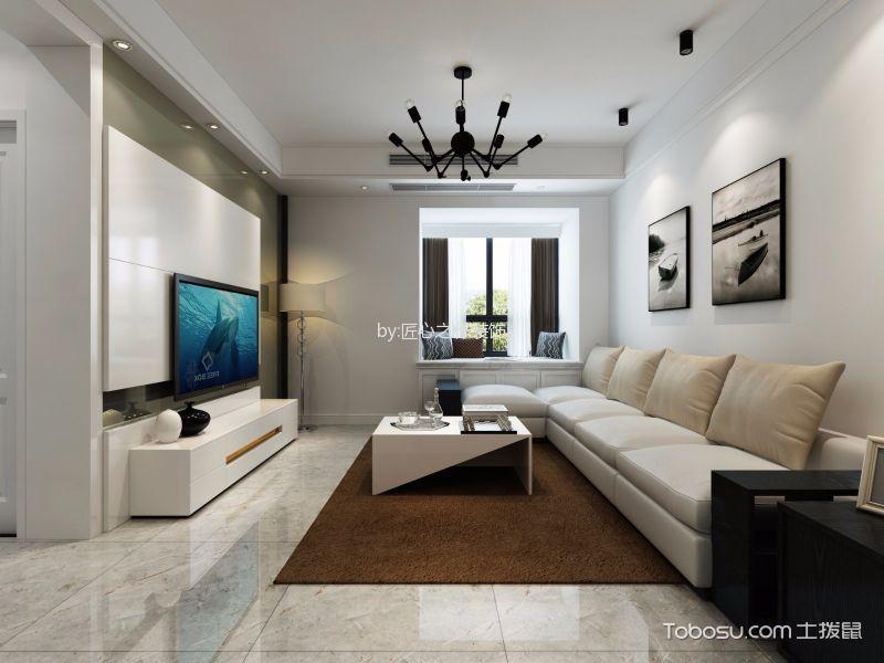 百瑞景现代简约风格二居室装修效果图