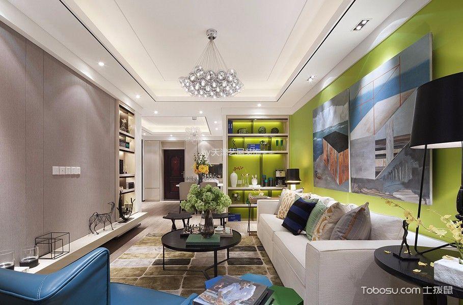 万科民和巷90平米现代风格二居室装修效果图