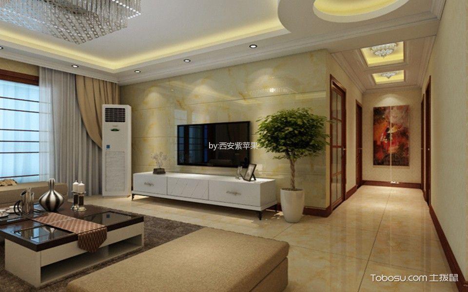 名京九合院现代简约风格三居室装修效果图