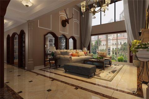美式风格300平米跃层室内装修效果图