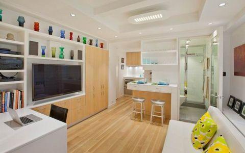 现代风格47平米三房两厅新房装修效果图