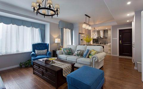 80平简约美式风格三居室装修案例