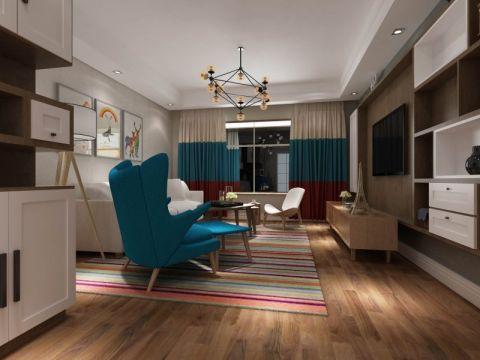 北欧风格112平米三房两厅新房装修效果图