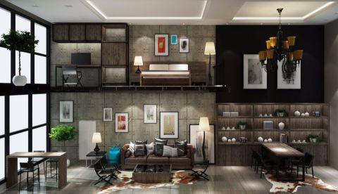 后现代风格120平米复式室内装修效果图