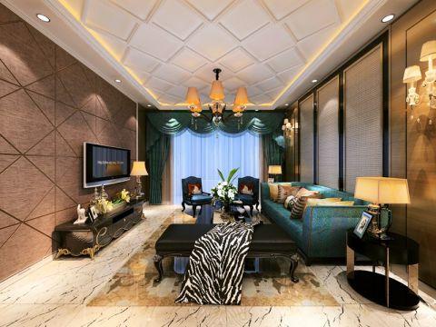 后现代风格134平米三房两厅新房装修效果图