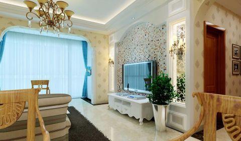 现代风格120平米大户型新房装修效果图