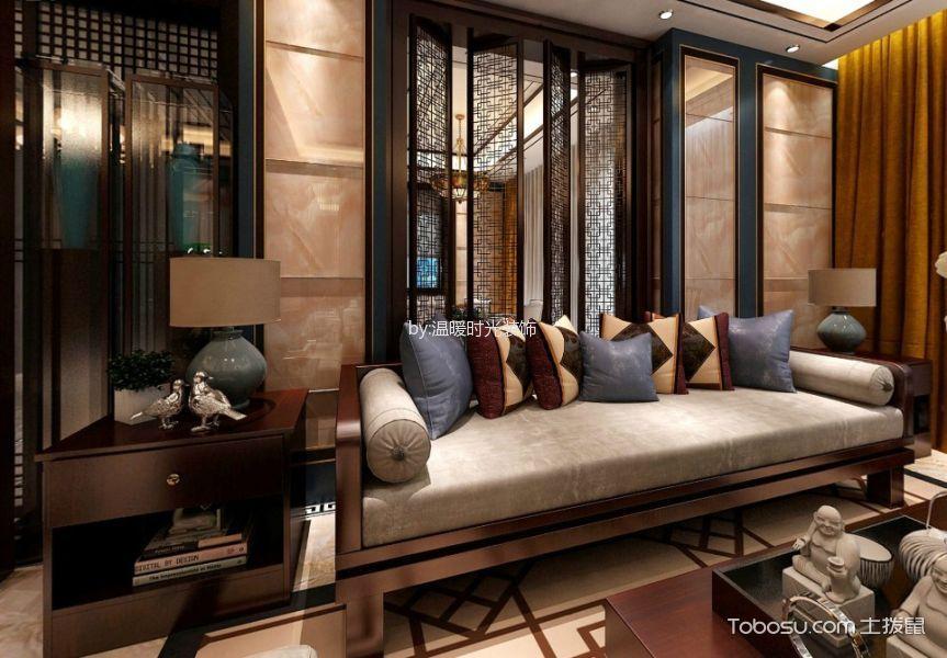 新中式风格120平米4房2厅房子装饰效果图