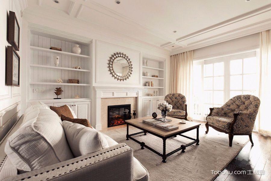 美式风格300平米复式房子装饰效果图