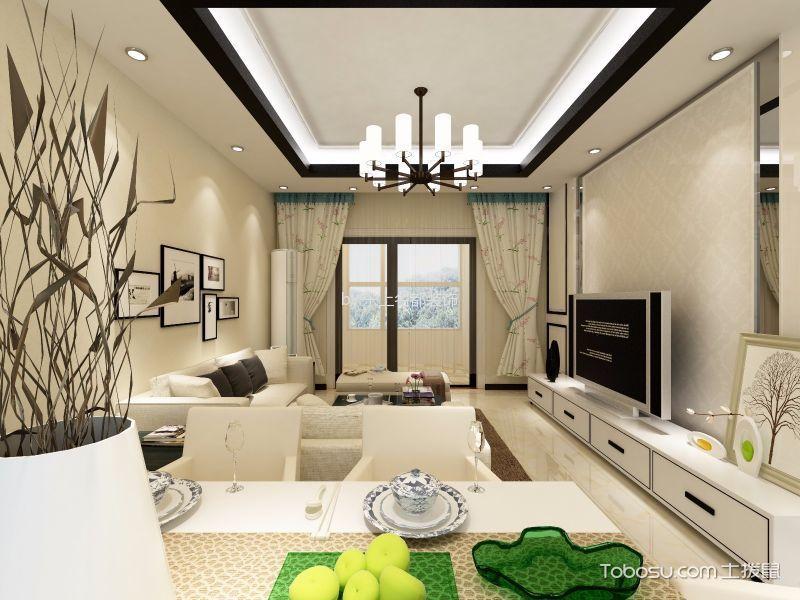 青秀城现代简约风格二居室装修效果图